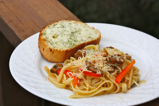 Pasta with Spicy Chicken Sausage and Pears