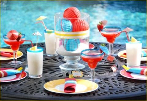Decoraci n de fiestas en la piscina fiestas y todo eventos - Fiesta de piscina ...