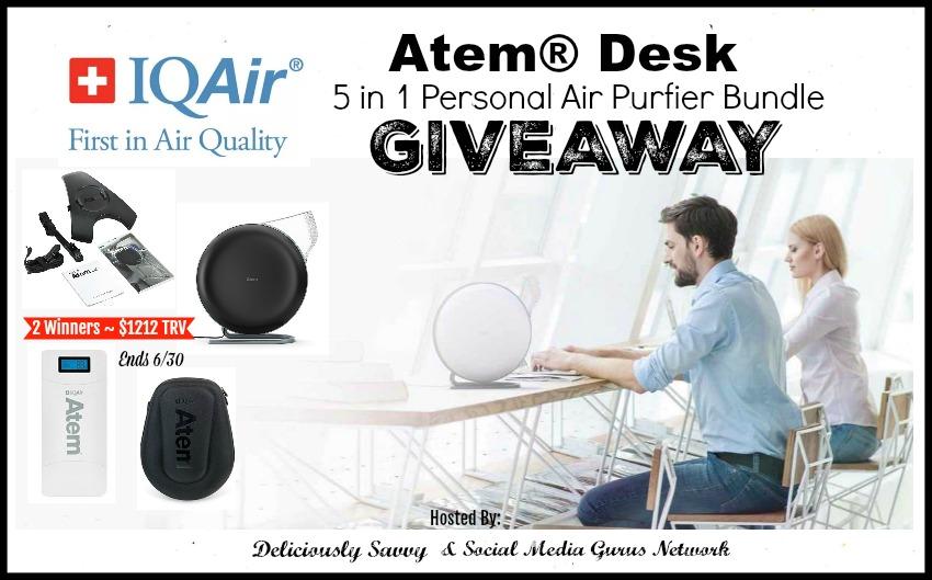 Atem Desk Personal Air Purifier Giveaway