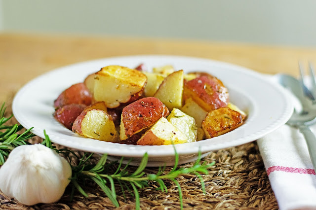 Rosemary and garlic roasted potatoes