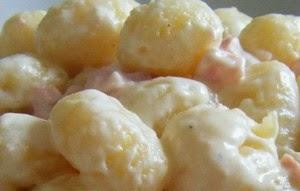 gnocchi di patate con prosciutto e panna