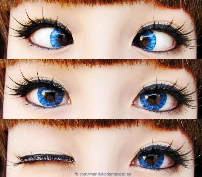 Bright Blue Lenses for Dolly Makeup: I.Fairy Super Crystal Blue