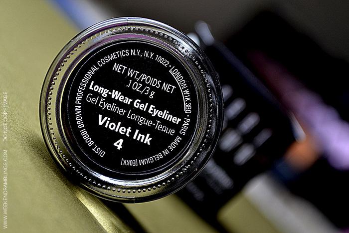 Bobbi Brown Makeup Long Wear Gel Eyeliner Violet Ink Indian Beauty Blog Reviews Swatches Ingredients How to Use FOTD Looks