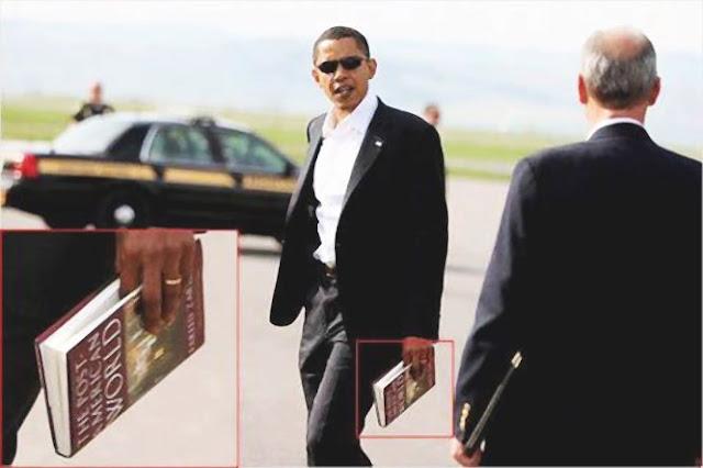 هل تعرف ما هو الكتاب الذى كان يحمله أوباما فى الصورة ؟ %D8%B9%D8%A7%D9%84%D