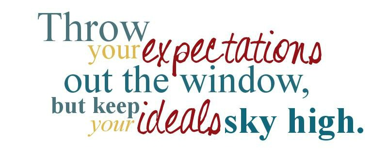 expectations vs ideals
