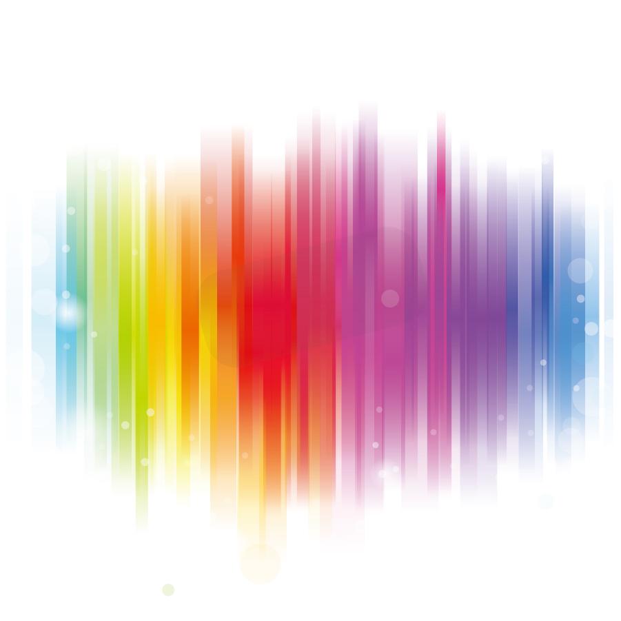 淡く輝くカラフルな背景 Colorful Glowing Background Vector イラスト素材