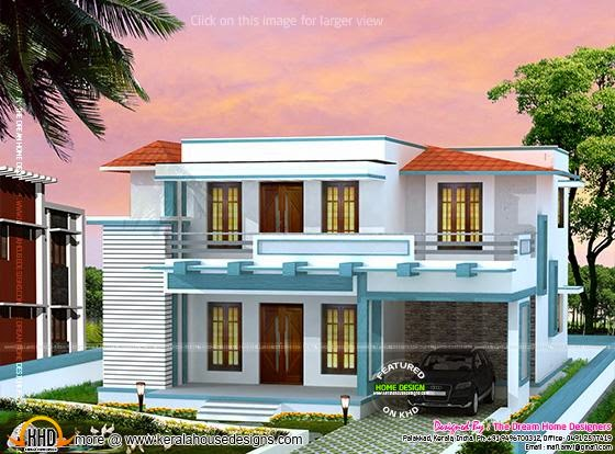 Double storied house with plan