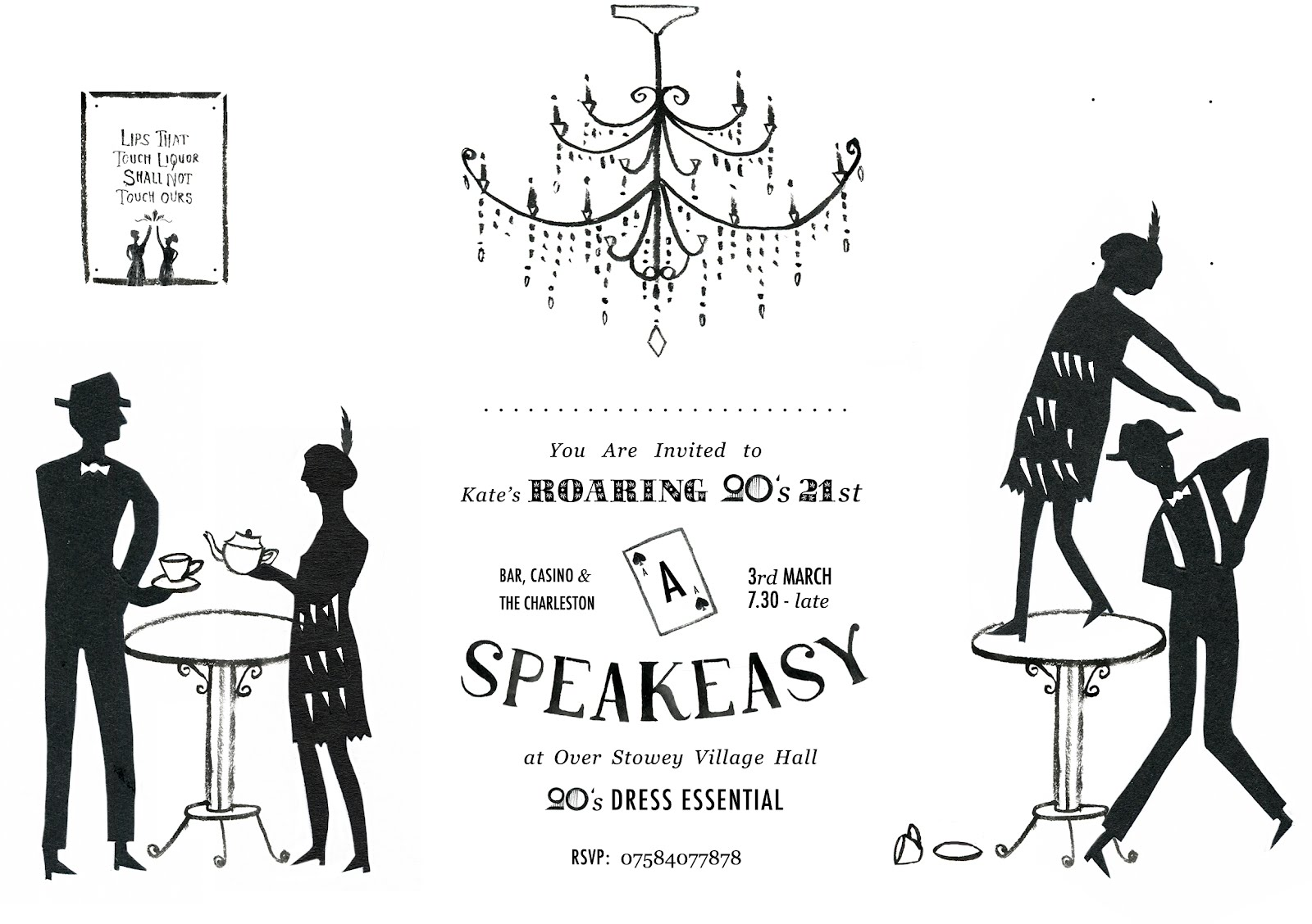 The Daily Bailey: Roaring 20\'s Party Invitation
