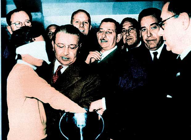 Franco Gemma dilucidando el pase de España al mundial de Suiza 54