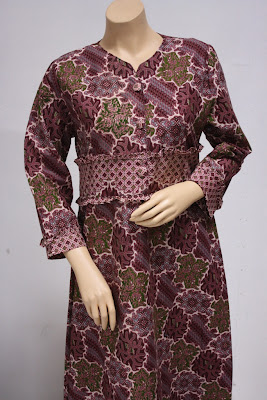 baju kemeja batik wanita modern