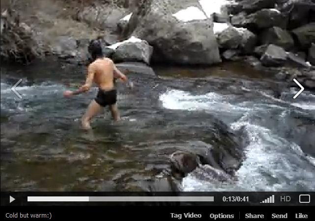 Մարմնի ու մտքի կոփում ձմեռային Ազատ գետում