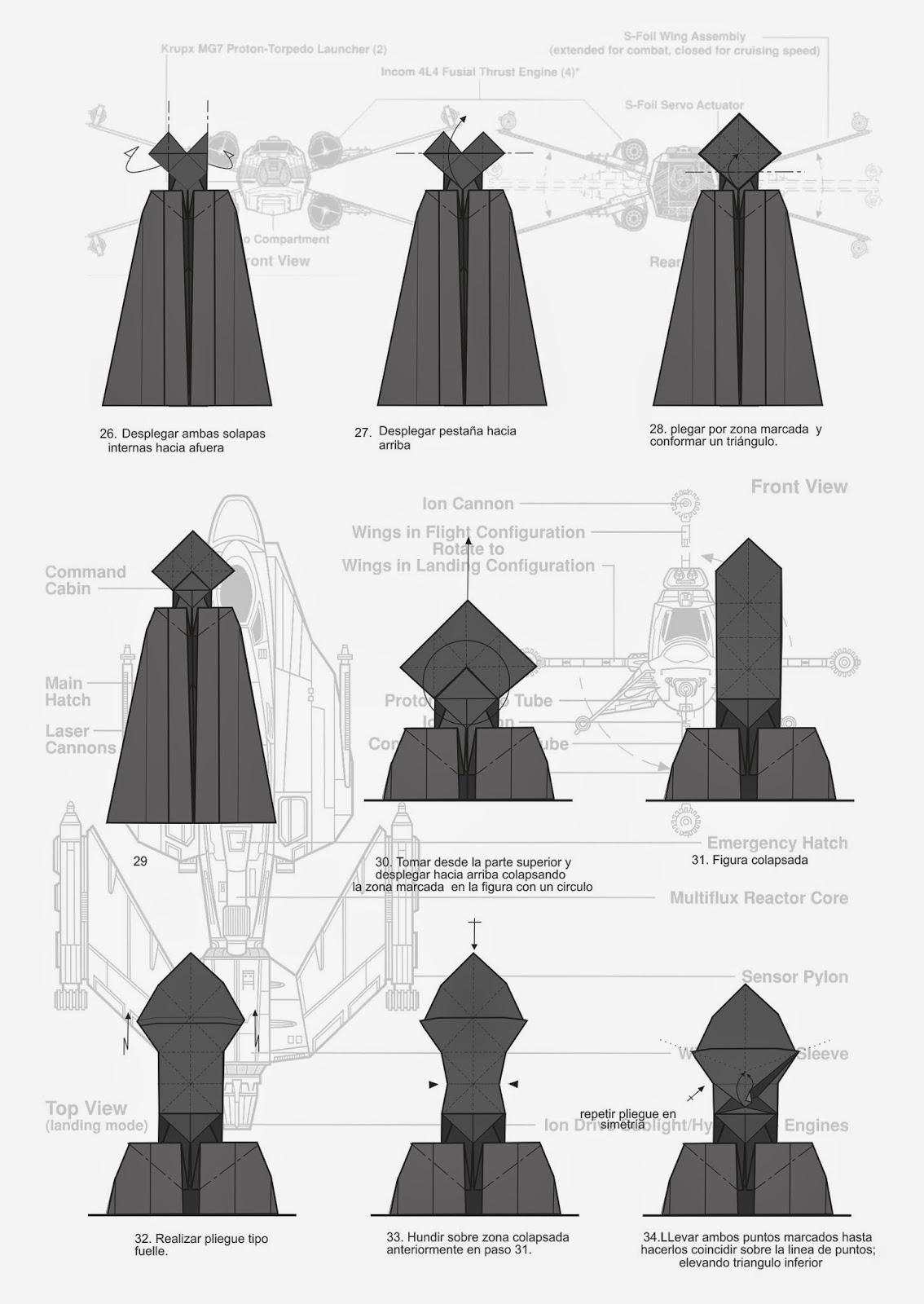 dismith darth vader origami diagram