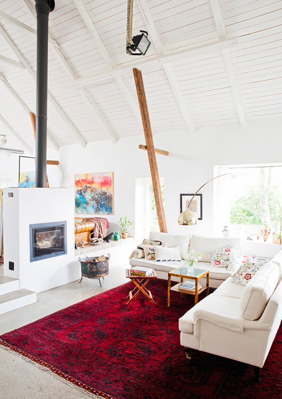 Scandinavian country living room via Hus o Hem