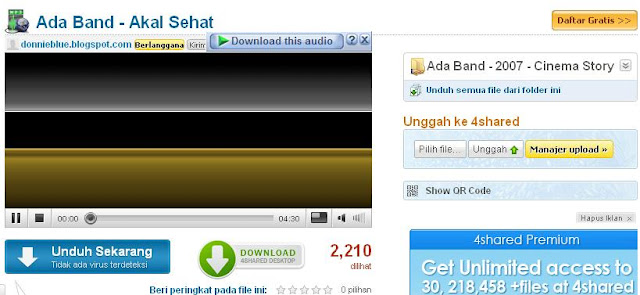 Nah, tulisan Download This Audio sudah muncul kan.. lalu sobat tinggal ...