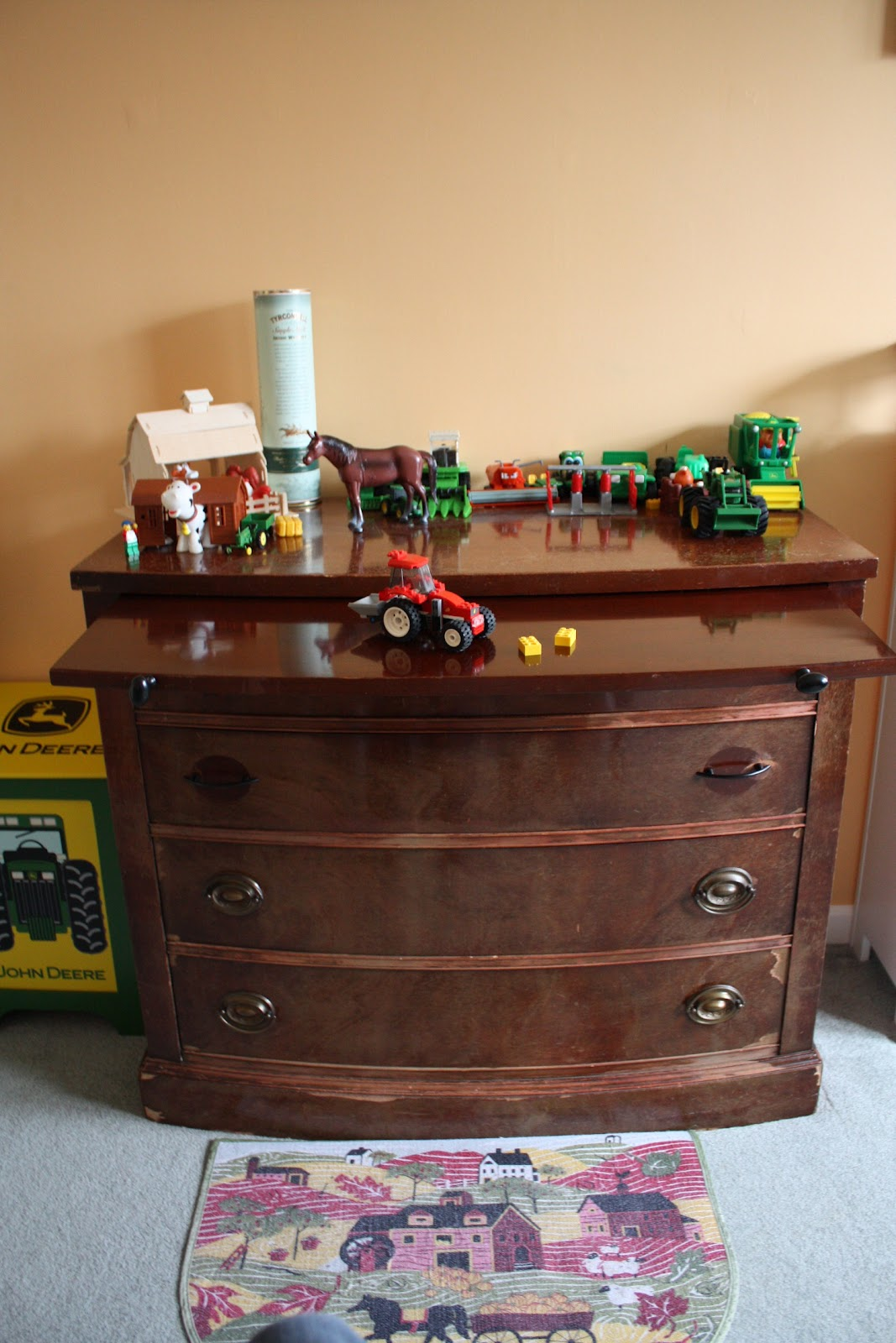 Here Is The Dresser, As We Got It, With Scratched And Chipped Veneer. We  Had It For Years. Then, A Couple Weeks Ago, My 8 Year Old Son Decided He  Wanted ...