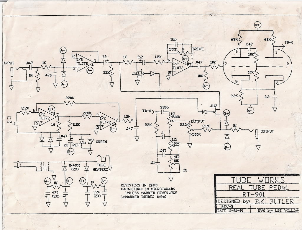 Epiphone Dot Wiring Schematic Wire Data Schema Sg Schematics Dean Markley Overlord To B K Butler Tube Driver La Pickup Diagram