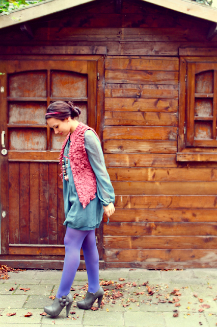 fashion, dress, fairytale, pink, blue, H&M, Accessorize, autumn