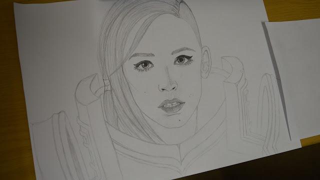 Drawing fan art of Johanna from Hots - part 3