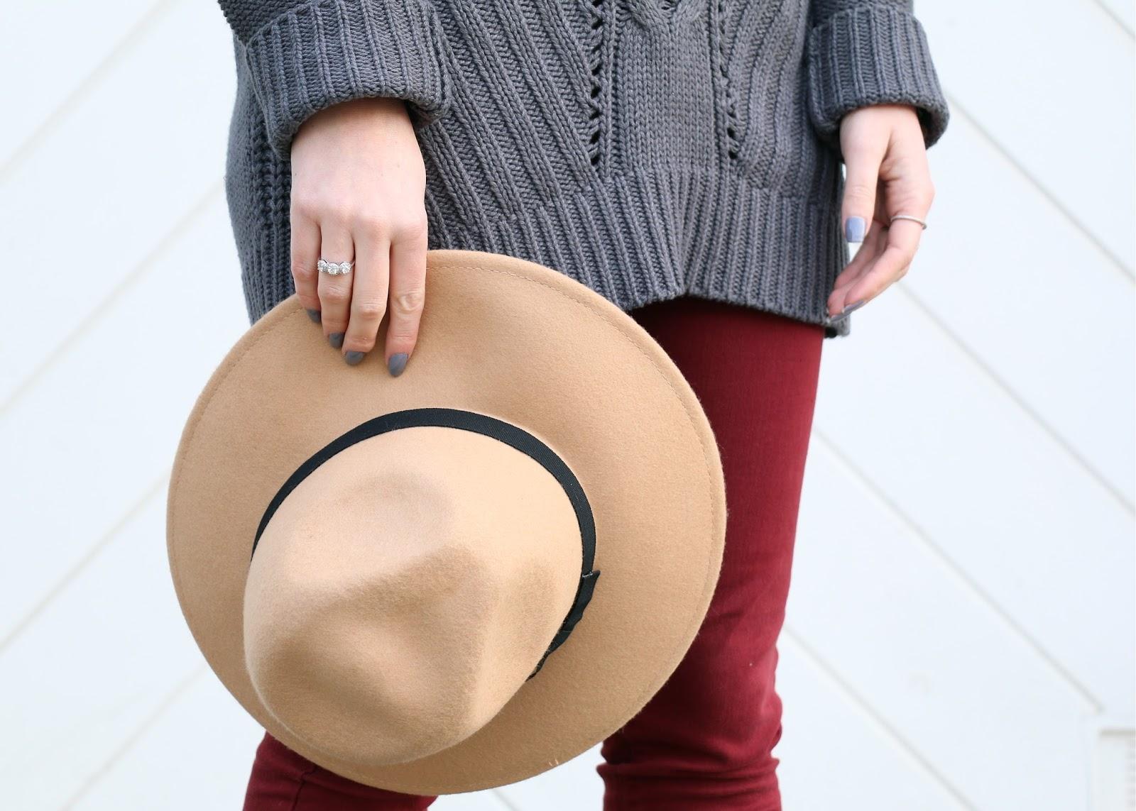 tan brand melville fedora hat