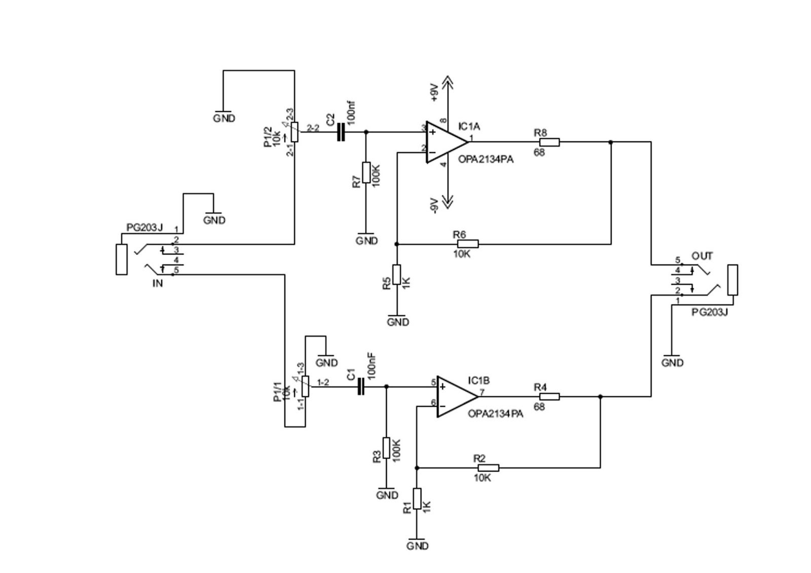 Project Expo Headphone Amplifier Using Opa2134pa Circuit Diagram Projects