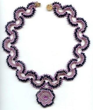 Изготовление ожерелья из бисера