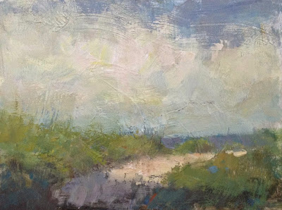 Impressionist oil painting of the dunes on Cape Cod by artist Steve Allrich