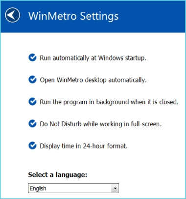 Winmetro - Get Windows 8 Metro screen in Windows 7