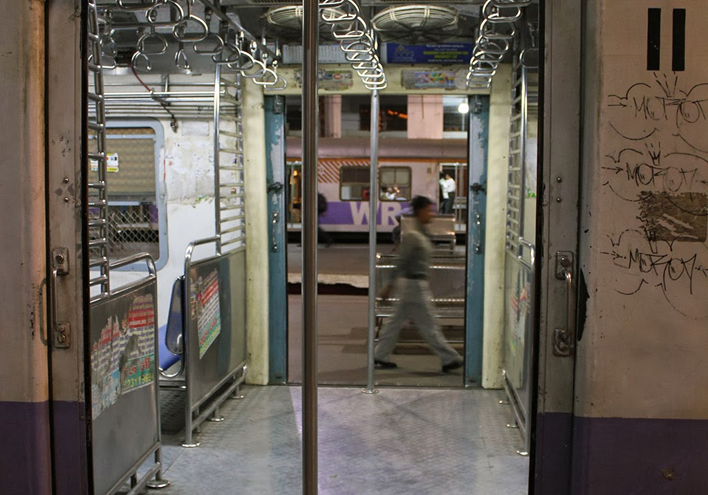 Empty train at Churchgate Station, Mumbai