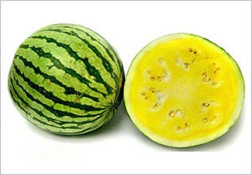 بماذا تجعلنا الفاكهة التي تقدم خلال وجبة الطعام نتفكر؟ Yellow-watermelon