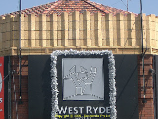 West Ryde hotel facade detail