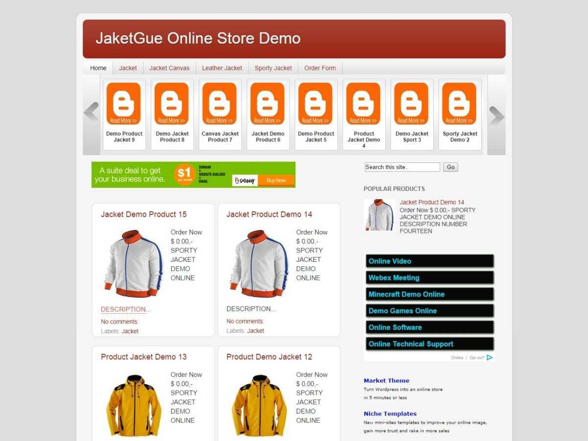 Online Store Blogger Template   Jaketgue Store Blogger Template By Blog Shop Templates Blogr Templates