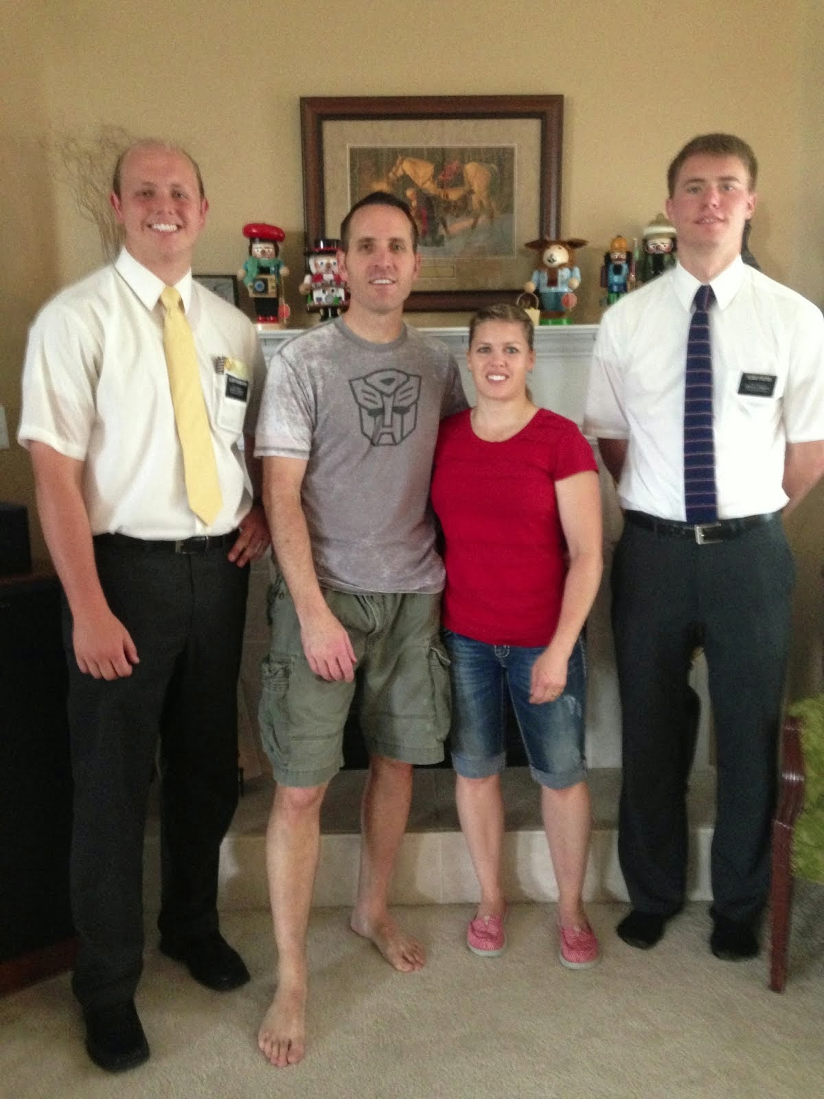 Elder Rasmussen & Elder Foster with the Burbidge Family