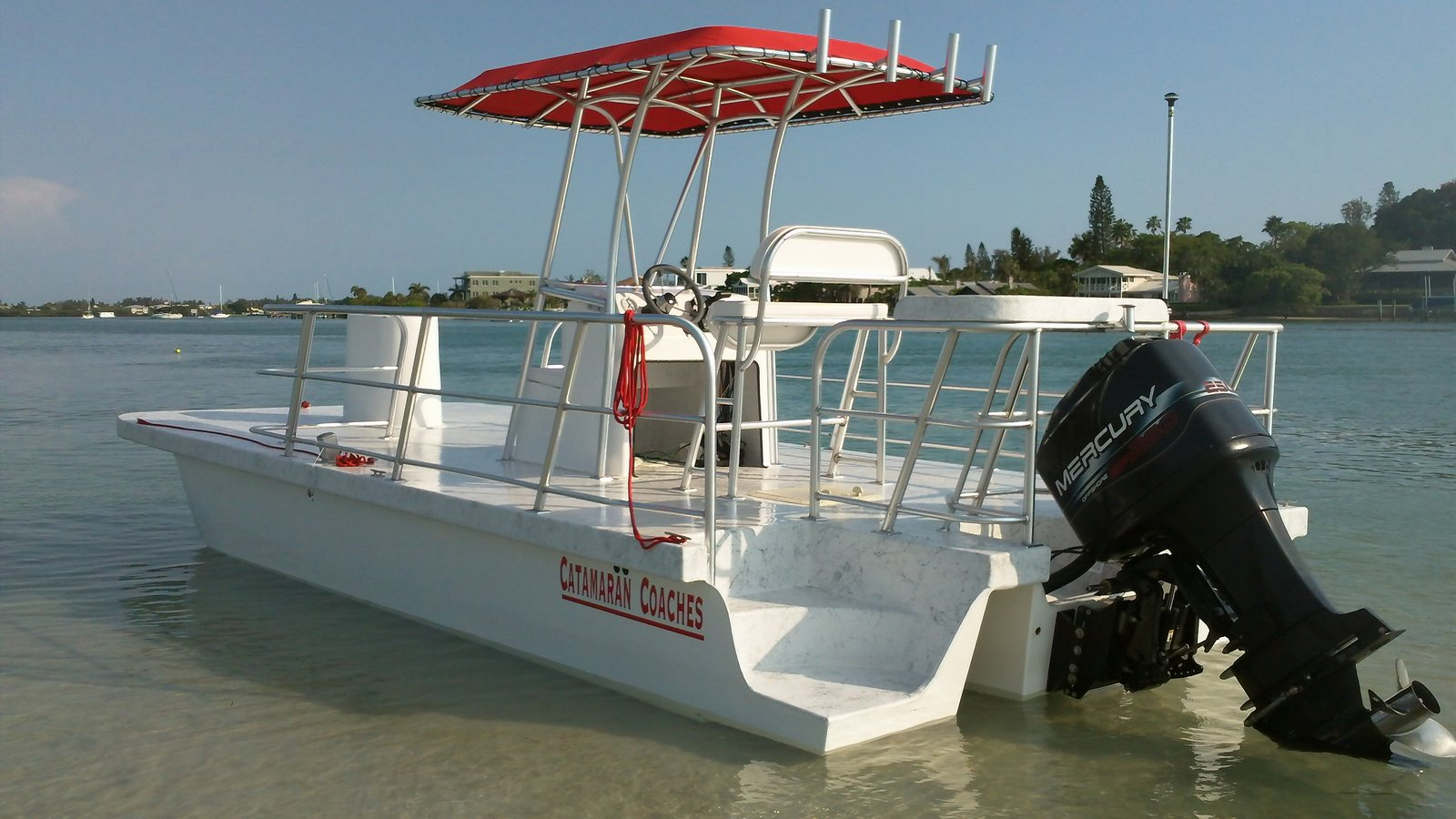 Catamaran coaches pontoon boats for Fishing pontoon boats