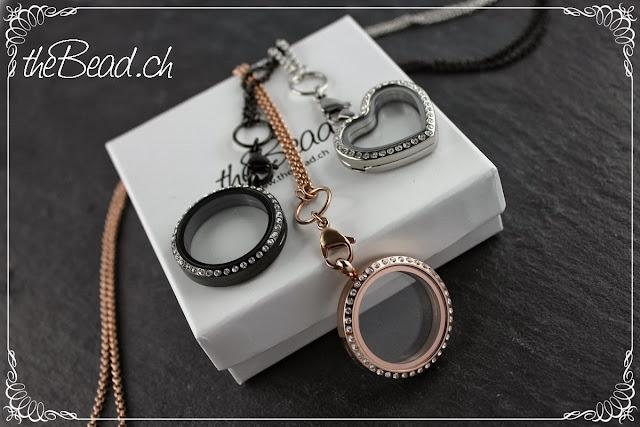 La Vie Medaillons aus Edelstahl in rose-gold, silber und schwarz