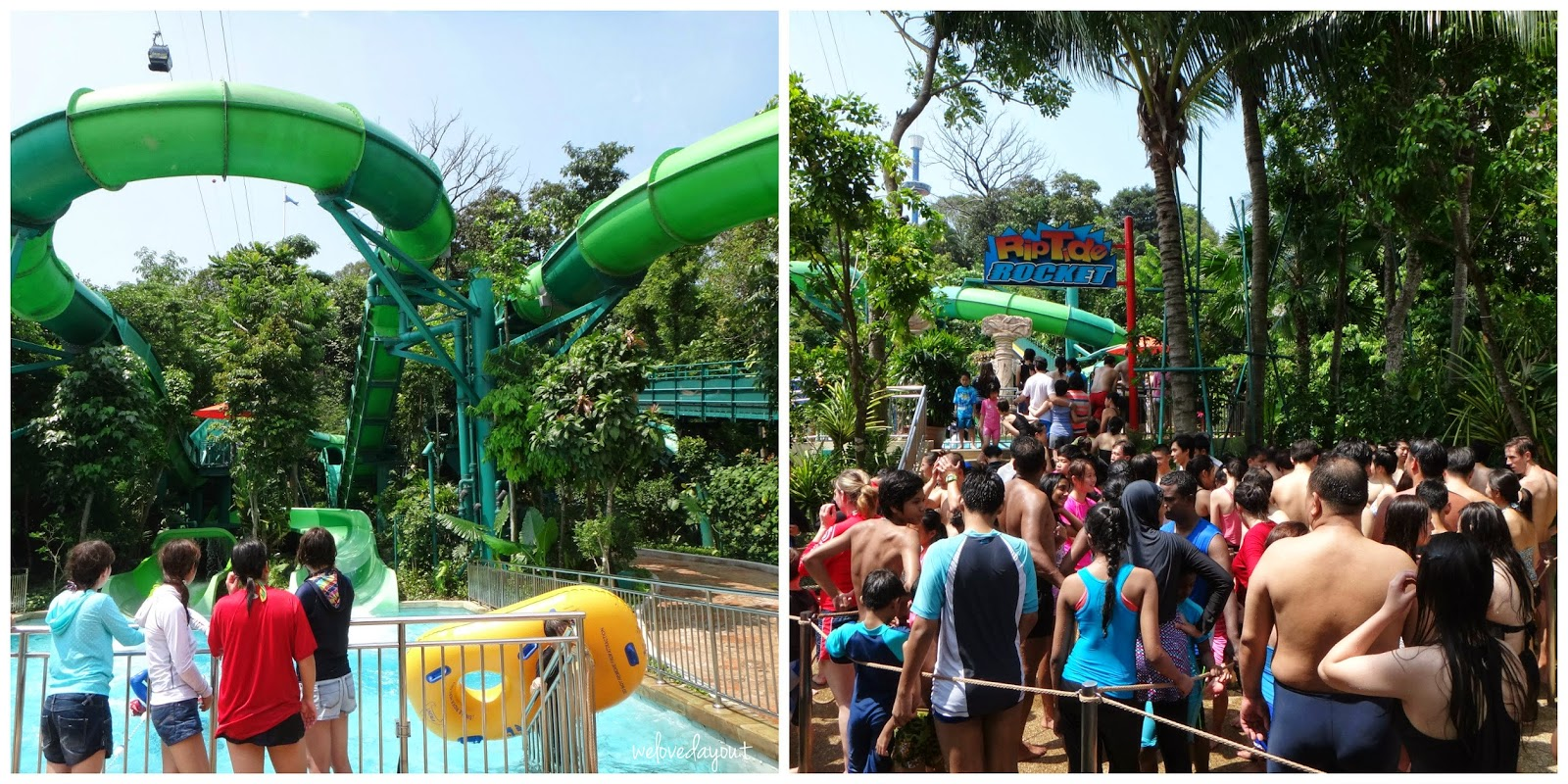 Welovedayout Family Fun At Adventure Cove Waterpark Resorts World Singapore Et Tiket Park Crowded Slides The