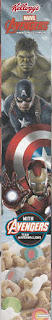 Left side of Avengers Age of Ultron cereal box