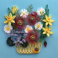 cesto fiorito quilling