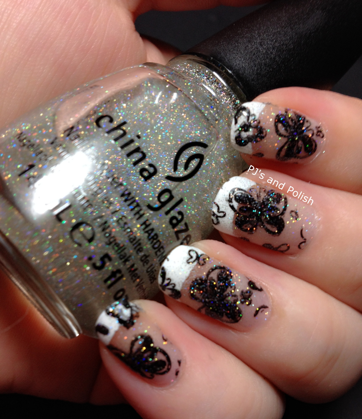 Sunday Stamping Butterflies Cult Nails Tempest Konad Black China Glaze Fairy Dust HK Girl MoYou
