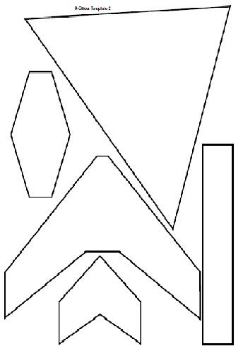 foam plate glider template pdf