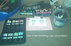 Mine and Mummys Copics and Promarkers