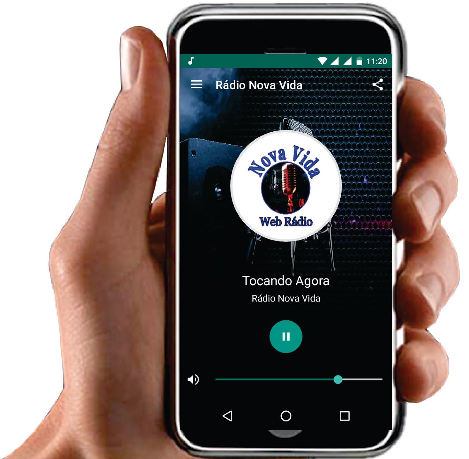 Baixe nossa Rádio  no seu celular.