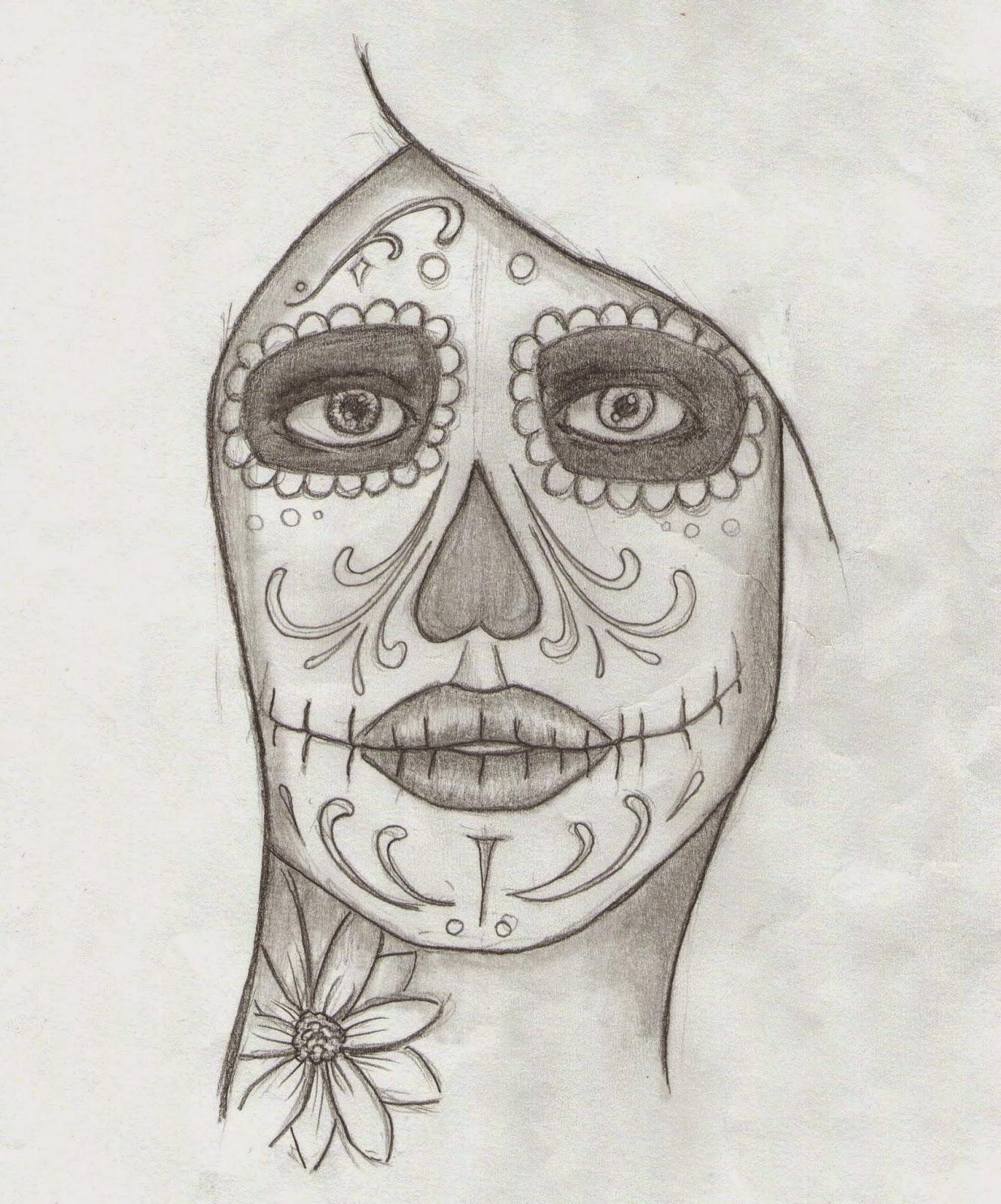 marcos guill233n guill233n dibujo mujer calavera mexicana