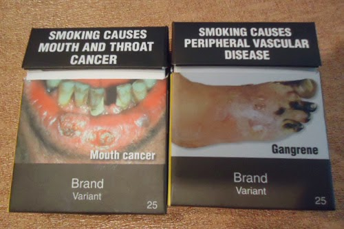 Graphic warnings on cigarette packs