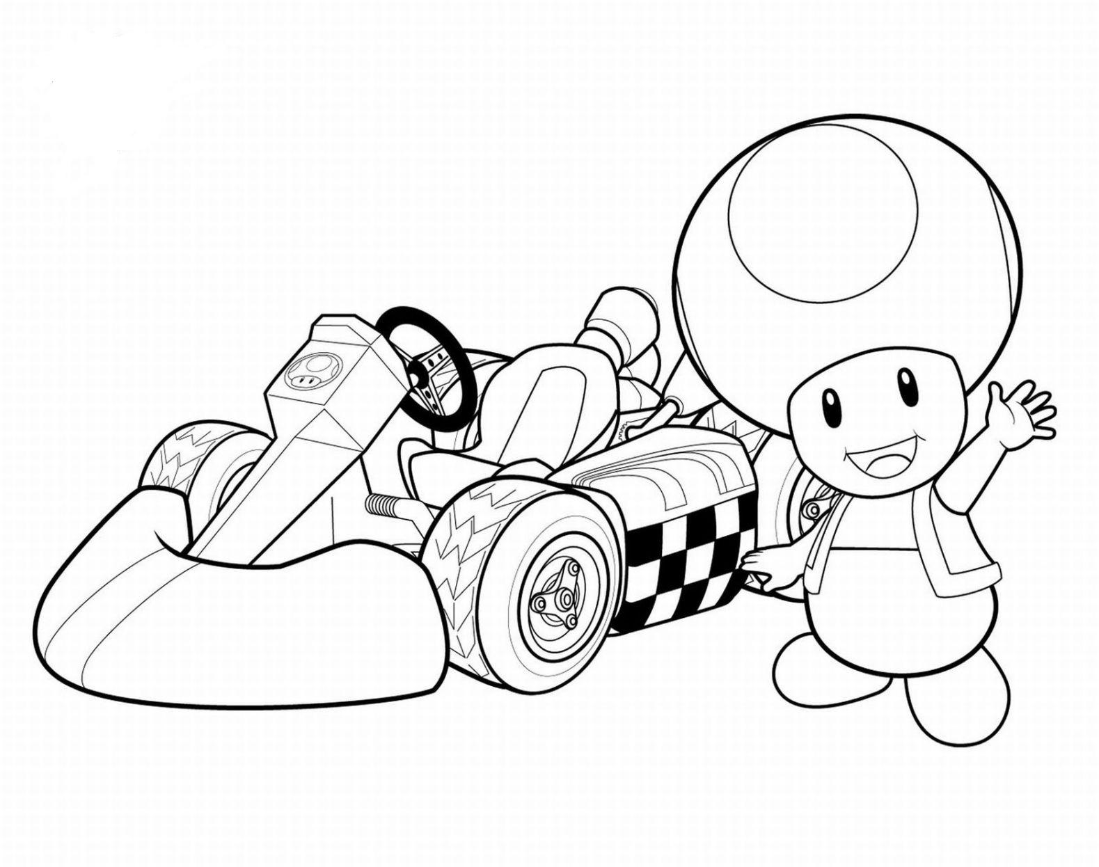 Little mushroom in race car Child