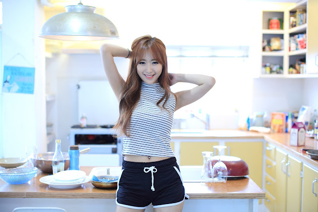 1 Fun In The Kitchen With Lovely Minah  - very cute asian girl-girlcute4u.blogspot.com