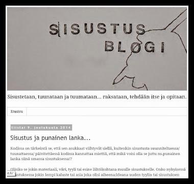 Tervetuloa Sisustusblogiin: