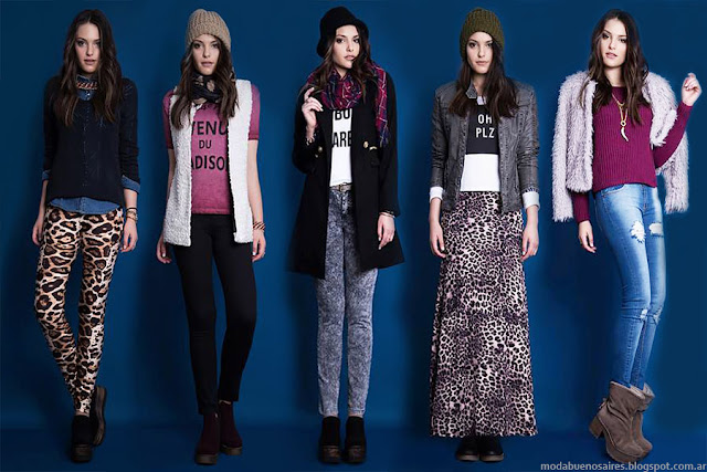 Moda invierno 2015. Estilo Ambar ropa de mujer de moda otoño invierno 2015.