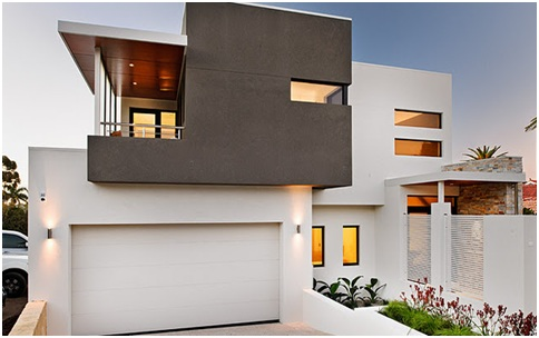 WHITE MODERN HOUSE FRONTS BEAUTIFUL FACADES