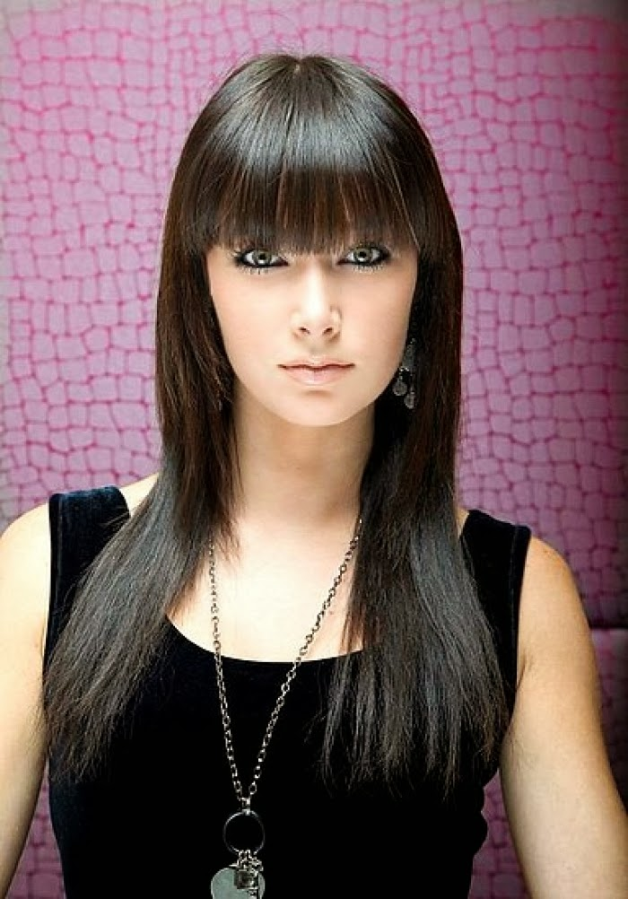 And styles looking classic using long hairstyles for women with bangs
