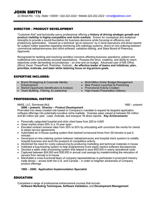 Executive Resume Samples - Slim Image